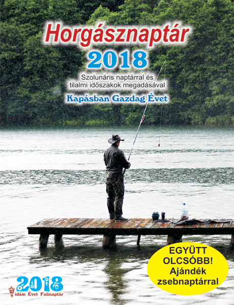 Kiadvány - Horgásznaptár 2018 falinaptár