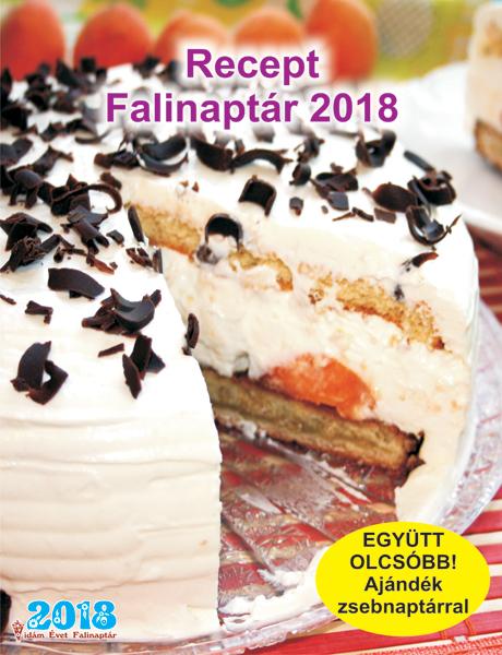 Kiadvány - Receptnaptár 2018 falinaptár
