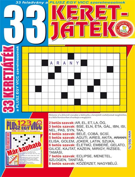 Kiadvány - 33 Keretjáték